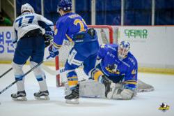 ハルラはGKダルトンの安定した守りでサハリンにリズムを与えなかった/photo - Anyang Halla Ice Hockey Club