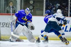 ハルラはGKダルトン(左)の31セーブ完封/photo - Anyang Halla Ice Hockey Club