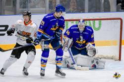 バックスは相手を上回るシュートを放ったが、ハルラのGKダルトンは43セーブで勝利に貢献した/photo - Anyang Halla Ice Hockey Club