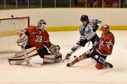 イーグルスGK成澤はシャットアウトで締めくくった/photo - Tohoku Ice Hockey Club