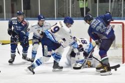 ブレイズはハルラGKダルトンの壁に阻まれ、連夜の1点差負け/photo - Tohoku Ice Hockey Club
